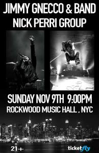 Jimmy Gnecco & Band w/Nick Perri Group, NYC 11.09.14